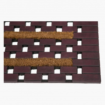 Wood Block Stripe Doormat