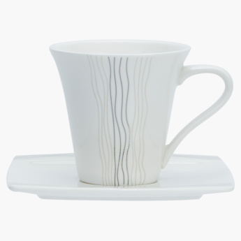 Reina Printed Tea Cup and Saucer