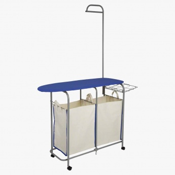 Iris Iron Table with Laundry Hamper