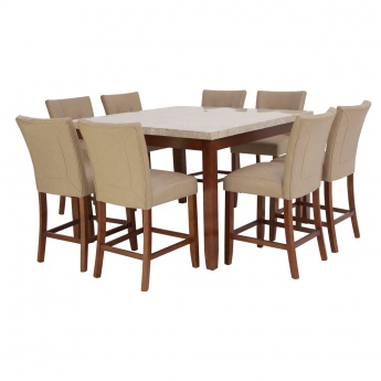 Oxville 8-Seater Dining Set with Marble Top