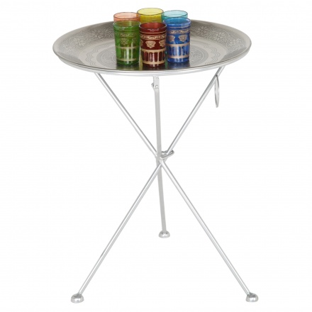 Nessna Tray with Stand and 6 Glasses