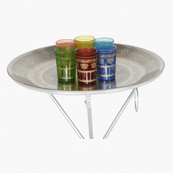 Nessna 6-Piece Glass with Tray and Stand