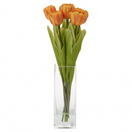 Tulip Flowers in Vase 40 cms