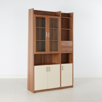 Canova 5-Door Bookcase with 2-Drawers