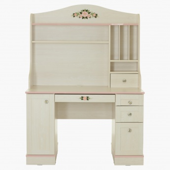 Gardenia Study Desk with Hutch