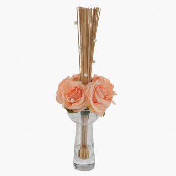 Rose/Bamboo Set with Vase