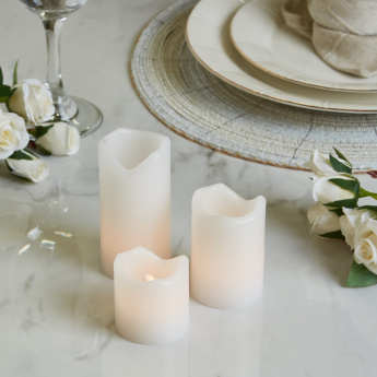 Marribel 3-piece LED Flameless Candles Gift Set