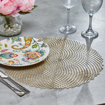 Oxford Round Placemat - 38 cms