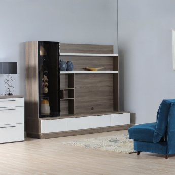 Dublin 4-Drawer Wall Unit with Shelves