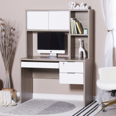Dublin 2-Drawer Desk with Hutch
