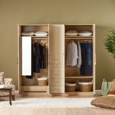 Hayden 5-Door Wardrobe with Mirror