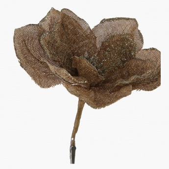 Burlap Magnolia with Clip