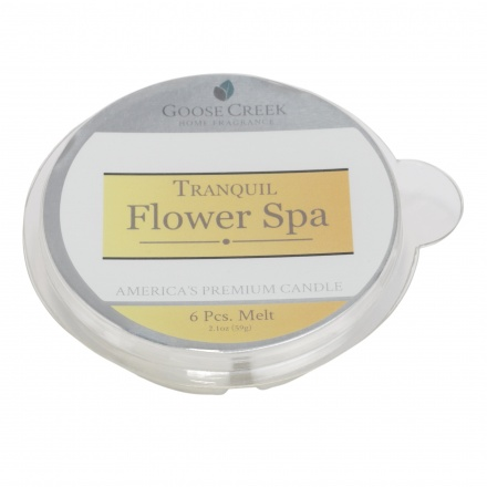 Tranquil Flower Spa Round Candle - Set of 6