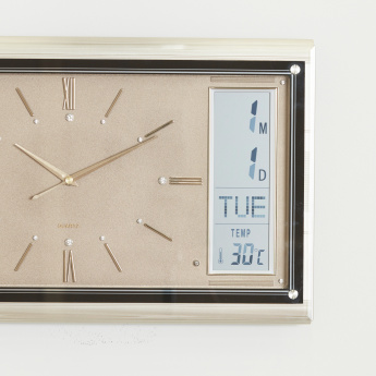 Karen LCD Digital Rectangular Wall Clock