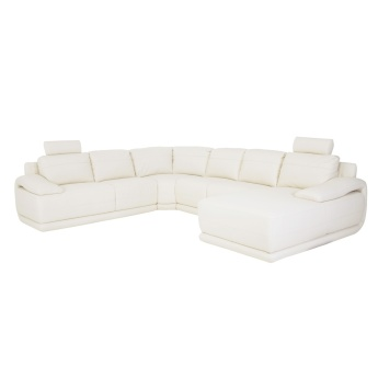 Alfred 6-Seater Right Corner Sofa with Splayed Arms