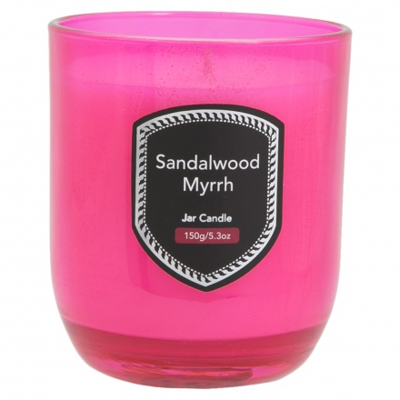 Sandalwood Myrrh Jar Candle 150 gms