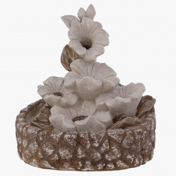 Blooming Anemone Fountain with Round Base