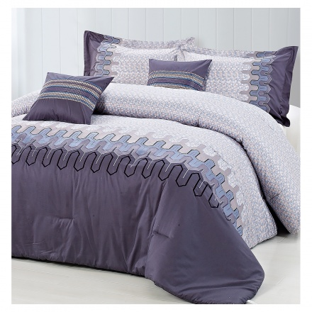 Lavina 5-piece Super King Comforter Set - 260x260 cms