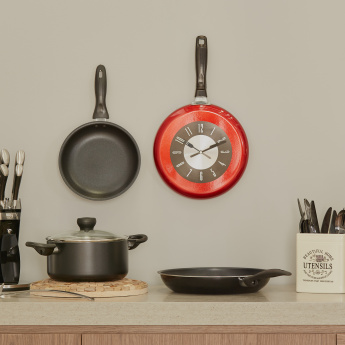 Vettora Frying Pan Shaped Wall Clock