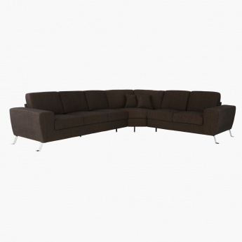 Avila Corner Sofa Right Dark Brown