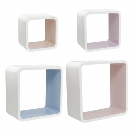 Cosmos Retro Wall Cube 4-piece Set