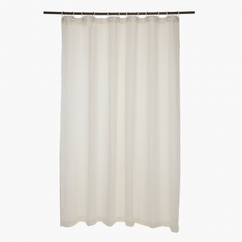 Waffle Cotton Shower Curtain - 180x180 cms