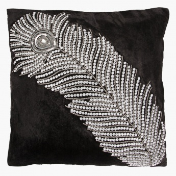 Feather Opulence Cushion - 45x45 cms