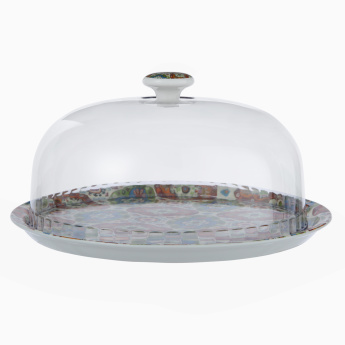Grand Bazaar Printed Cake Tray with Dome Lid