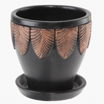 Palm Planter with Saucer 21.5 cms