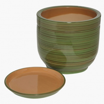 Berde Planter with Saucer 23 cms
