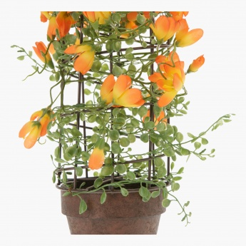 Crocus with Bird cage on Pot 47 cms