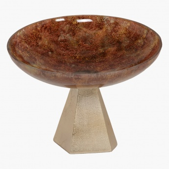 Citrine Footed Decorative Bowl