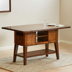 Delvin 6-Seater Dining Table with Storage