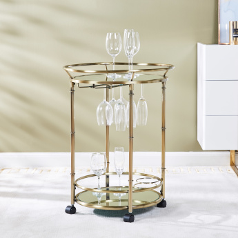 Veneto 3-Tier Serving Trolley with Lockable Casters