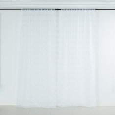 Snow 2-piece Curtain Set - 135x300 cms