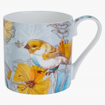 Gold Finch Printed Mug - 340 ml