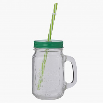 Arizona 6-Piece Mason Jar and Straw Set with Rack
