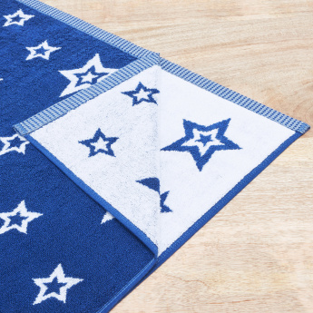 Stars Textured Bath Towel - 70x140 cms