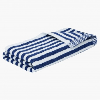 Stripes with Border Hand Towel - 50x100 cms