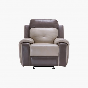 Cosma Recliner Chair Cream Taupe Faux Leather