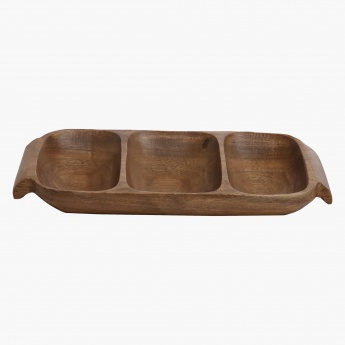 Acacia Tray with Handle - 30.4 x 17.7 x 3.8 cms