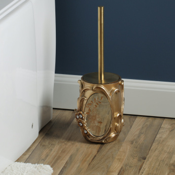 Victoria Engraved Toilet Brush Holder with Brush
