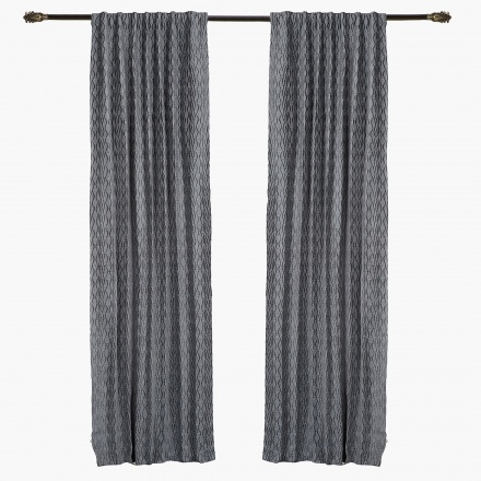 Chinelle Waves Curtain Pair - 135x300 cms