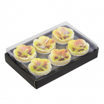 Pansy Tealight - Set of 6