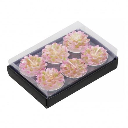 Dahlia Flower Tealight - Set of 6