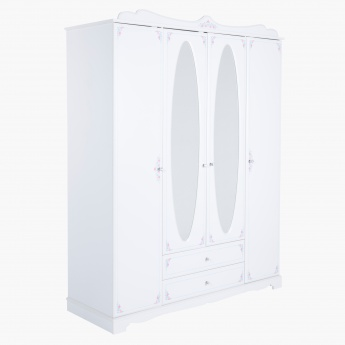 Emily 4-Door Wardrobe with 2-Drawers