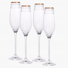 Mystic Crystal Flute Glass - Set of 4