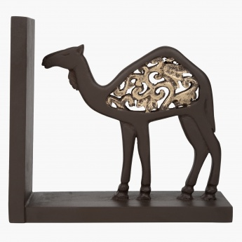 Camela Carved Bookends Pair - 30x7.5x18 cms