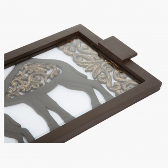 Camela Carved Tray - 44.5x28x4 cms