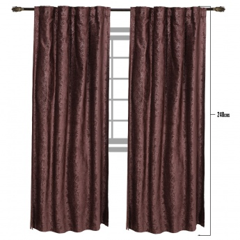 Nostalgia 2-Piece Curtain Set - 135x240 cms